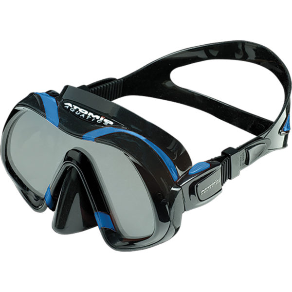 Atomic Aquatics Venom Mask is a frameless mask with the clearest German glass, quick release buckle and strap