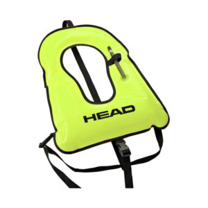 Head Wave Snorkel Vest neon yellow with crotch strap, waist strap and oral inflate and deflate tube