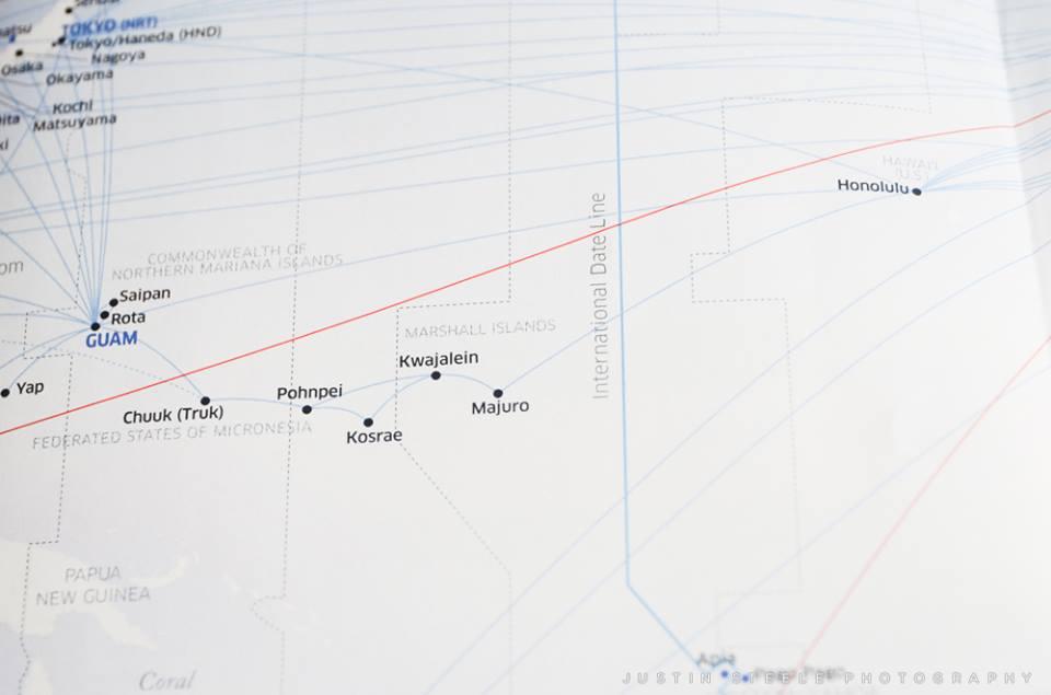 Flight Route to Truk Lagoon