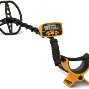 Garret Ace 400i metal detector with velcro forearm strap, large search coil