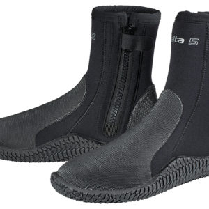 Scubapro Delta Boots 5mm zippered boot with moulding on heal and toe with heavy duty sole