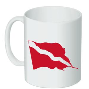 Wavy Dive Flag Ceramic Mug