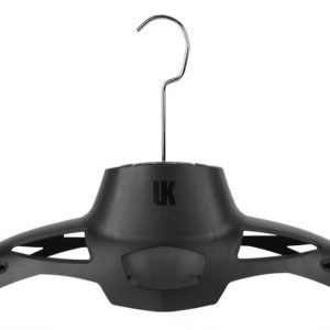 Underwater Kinetics HangAir Drying System made of recycled plastic with a computer fan that plugs into an ac adapter to dry your drysuit or wetsuit. Stainless Steel hook