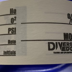 Divers Edge Gas Analysis Tape waterproof tape for writing mixed gas contents on scuba tanks