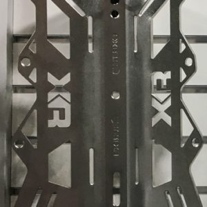 Mares XR Stainless Steel Backplate has specific triangle cutouts to reduce weight and is available in 3mm or 6mm thickness depending on the weight you want