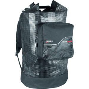 mares cruise backplate mesh deluxe uses rubberized mesh with thick backpack straps, a zippered front pouch with a pull string closer