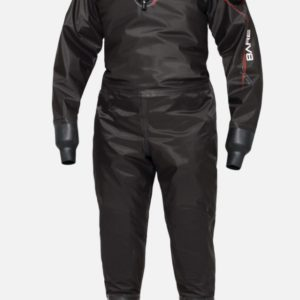 bare nex-gen pro dry drysuit all black back entry zipper drysuit with soft socks and latex seals