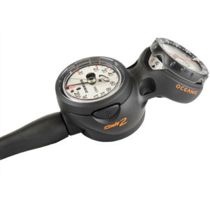 Oceanic Navcon Swiv Max Depth 3 Gauge Console with Compass