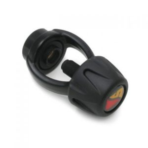 Dive Rite Din to Yoke Adapter Black with soft grip knob