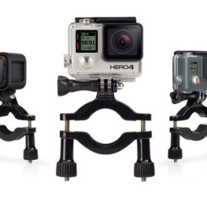 """GoPro Roll Bar Mount you can attach your GoPro to roll bars, tubes and more. Fits 1.4"""" to 2.5"""" (3.5cm to 6.35cm) diameter tubes. Perfect for clamping to the metal or plastic radiator cap of karts, or to bike frames, bumper bars, roof racks and more. The included 3-Way Pivot Arm makes it easy to aim the camera, so you can achieve the perfect angle for every shot. Clamps to any 1.4"""" to 2.5"""" (3.5cm to 6.35cm) diameter tubes Mounts to roll bars, bike frames, roof racks and more 3-Way Pivot Arm allows for easy aiming Warranty: 1 Year"""