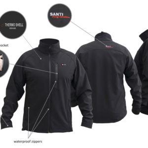 Santi Softshell Jacket black mens and women's cut
