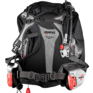 mares magellan bcd with red weight release pockets