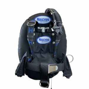 halcyon eclipse bcd stainless steel with harness, weight system and black eclipse wing and STA