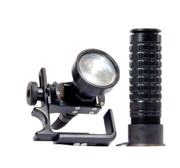 halcyon flare light black with light handle, corded with charger and battery