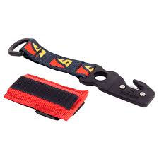 dive rite line cutter with logo velcro strap and red nylon pouch