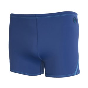 Fourth Element Ocean Positive Cayman Swim Shorts made from recycled fishing nets are a short leg boxer style men's bathing suit