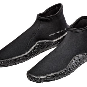 """Scubapro Delta 3mm Short Boot is a neoprene boot with 1/4"""" thick sole and a snug ankle closure"""