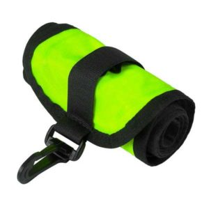 dive rite see me safety float yellow with plastic clip and oral inflate tube