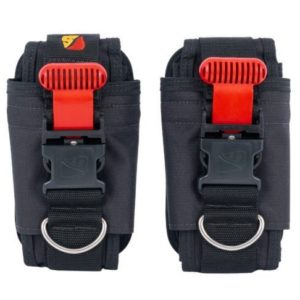 Dive Rite Quick Buckle Weight System 20lb with red quick release handles