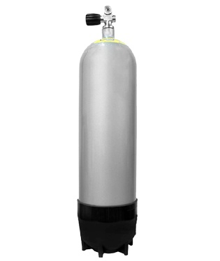 faber lp85 scuba tank with tank boot and standard k valve