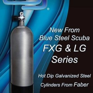 Faber FXG120 Hot Dip Galvanized Scuba Tank 3442psi with Boot and DIN K Valve