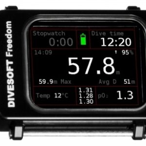 Divesoft Freedom CCR Bottom Timer full colour screen and rugged aluminum housing