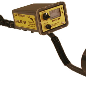 JW Fishers Puls 8x Metal Detector a waterproof professional machine for finding all metals underwater or on land