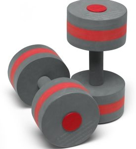 speedo aquatic fitness barbells with soft grip for Aquafit workouts