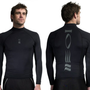 fourth element hydroskin long sleeve sun shirt spf5o black lycra with fourth element symbol on the back