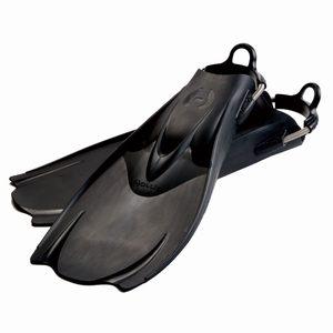 hollis f1 fins black with spring heel straps