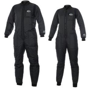 bare hi-loft polarwear extreme underwear mens and women's black full length jumpsuits