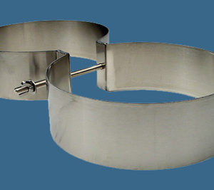 """Light Monkey SS Tank Bands for doubles 7.25"""" or 8"""" diameter"""