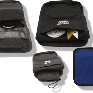 Light Monkey Bellows Pocket for Exposure Suits has four separate compartments built into each one! They are made from 1680 denier Ballistic nylon, a super-tough material. The pocket has a neoprene back