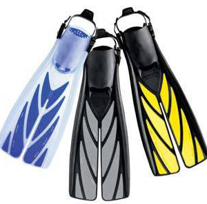 atomic aquatics split fins have a cut up the middle of the blade which they profess improves efficiency and reduces exertion. Available in a range of colours with choice of rubber strap and quick release buckle or spring heel strap