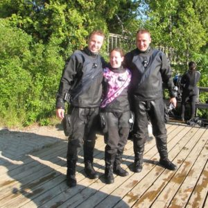 dui fax extreme drysuit select sizing with self donning zipper optional pockets, knee pads, crotch pad, choice of colours