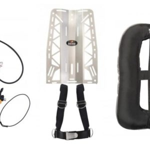 dive rite xt regulator with voyager backplate and wing system as a package deal with octo and spg, reg bag and hardware