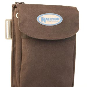 halcyon weighted bellows pocket with stainless steel belt slide