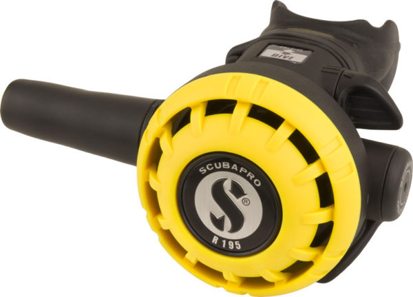 scubapro R195 octopus regulator yellow cover with yellow hose