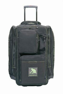 the akona primitive frog roller backpack has wheels and a pullout handle to allow for easy transportation. This heavy duty bag is a great choice for local scuba diving