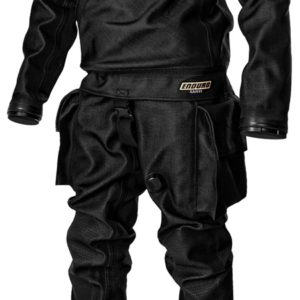 Santi Enduro Drysuit with thigh pockets and soft sock all black