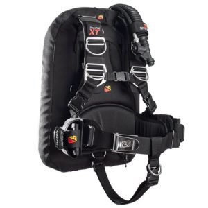 Dive Rite Transpac XT BCD Package includes crotch strap, weight system, wing and harness