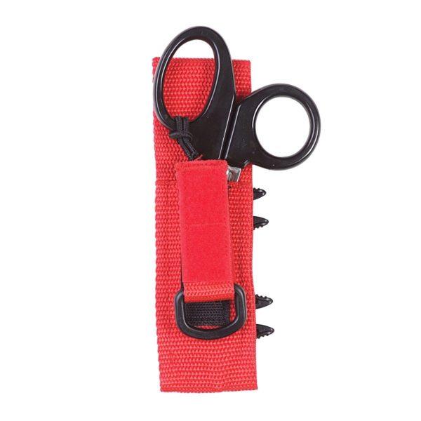 dive rite trauma shears black handles with red sheath