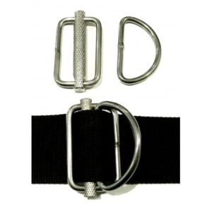 xDeep sliding metal d-ring comes as a pair of 2 stainless d-rings with slider mechanism