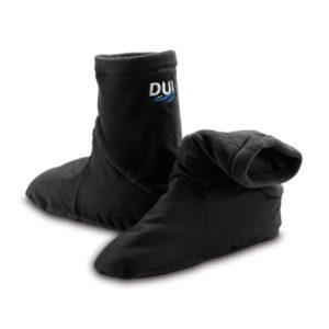 dui xm450 socks with thin slate foot and polartec top