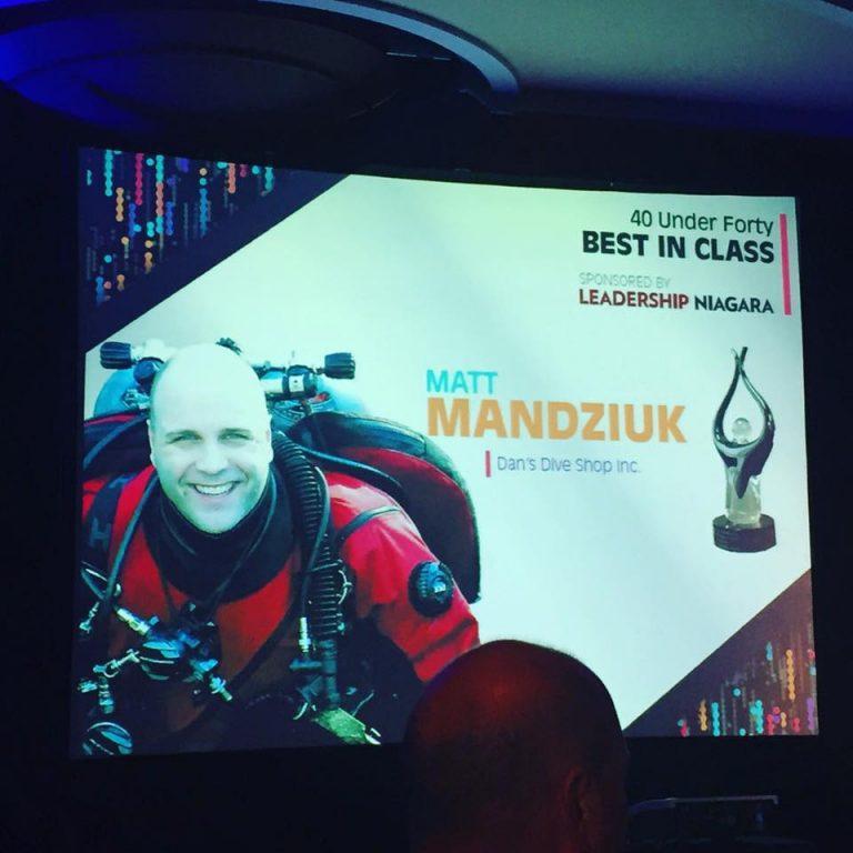 Matt Mandziuk 40 Under 40 Best in Class Award