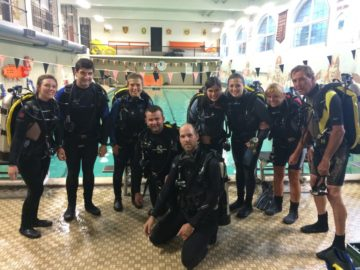 Padi Open Water Students with Dan's Dive Shop