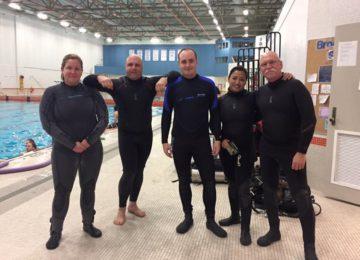 Dan's Dive Shop Staff Together at Brock University
