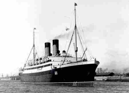 RMS Empress of Ireland black and white photo