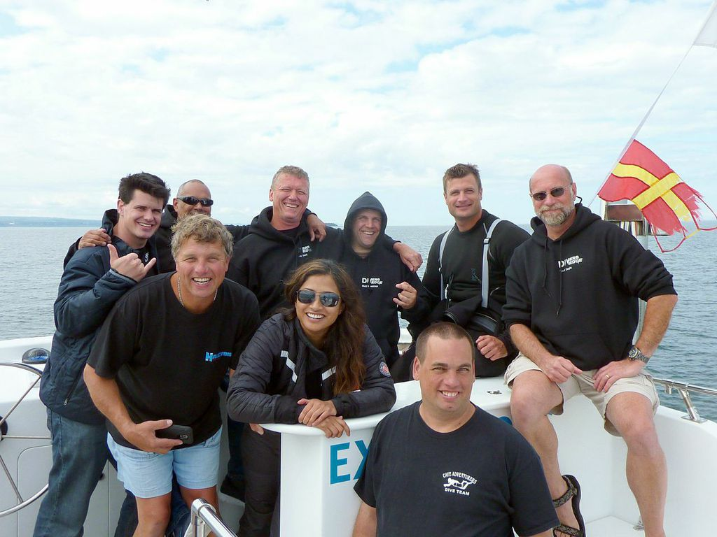 DDS Divers on a Surface Interval During Empress of Ireland Expedition