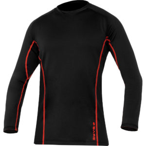 The BARE Ultrawarmth Base Layer Brave is the perfect aid for underneath your undresuit to help you improve comfort and brave the icy waters, as the BARE Ultrawarmth Base Layer features Celliant® Infrared Thermal Technology. Celliant Infrared Thermal Technology is FDA-determined as a heat recovery medical device. Designed to replace the older SB System base layers, Ultrawarmth seals in warmth and creates a protective heat barrier so divers can stay warmer for longer, even during their most chilling adventures. Advanced stretch breathable fabric draws moisture away from the body and creates a dry zone, next-to-skin barrier, while moisture is dispersed over a larger surface for quick evaporation. Power every dive with Ultrawarmth protection. Available in Men's and Women's Sizes.